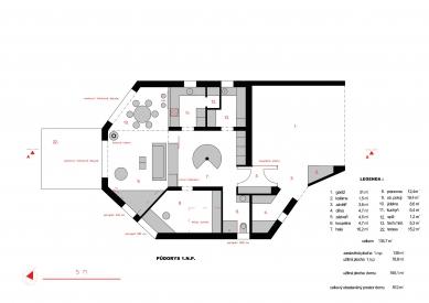 Rodinný dům v Pardubicích - Půdorys 1NP