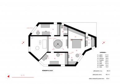Rodinný dům v Pardubicích - Půdorys 2NP