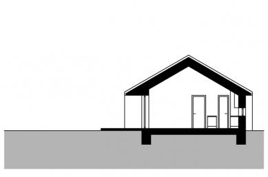 Přízemní rodinný dům - Řez