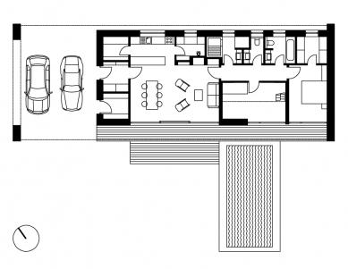Přízemní rodinný dům - Půdorys