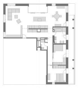 Interiér bytu Praha 5 - Půdorys