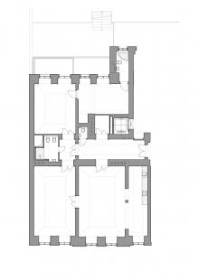 Byt v odstínech bílé a dřeva - Stav před rekonstrukcí - foto: WArch