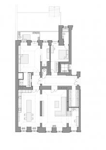 Byt v odstínech bílé a dřeva - Stav po rekonstrukci - foto: WArch