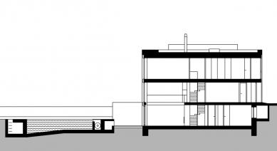 Přestavba řadového domu - Řez