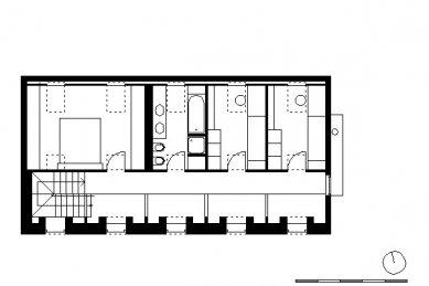 Rodinný dům ve Stradonicích - půdorys 2.N.P.