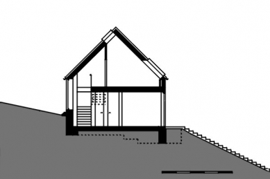 Rodinný dům ve Stradonicích - řez