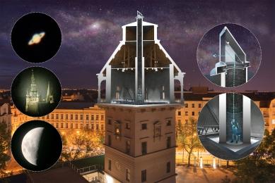 Rekonstrukce vodárenské věže s observatoří - Periskop - foto: Petr Hájek ARCHITEKTI