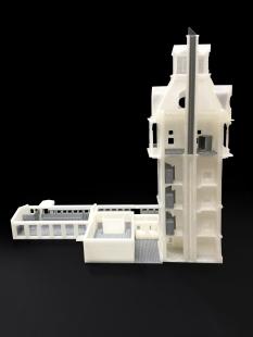 Rekonstrukce vodárenské věže s observatoří - Fotografie modelu - foto: Petr Hájek ARCHITEKTI