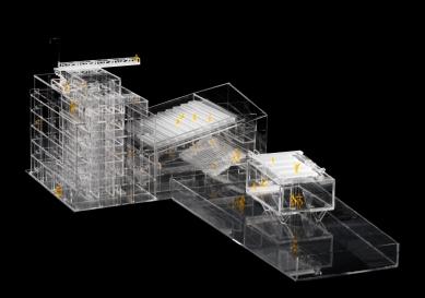 Centre for Contemporary Art DOX+ - Fotografie modelu - foto: Petr Hájek ARCHITEKTI