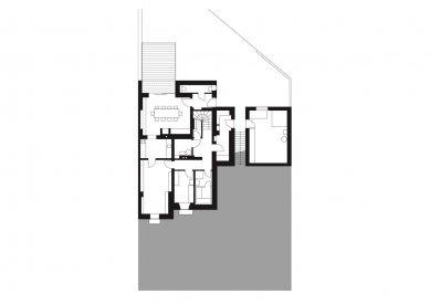 Rodinný dům Žabovřesky 02 - Půdorys 1.pp - foto: knesl + kynčl architekti