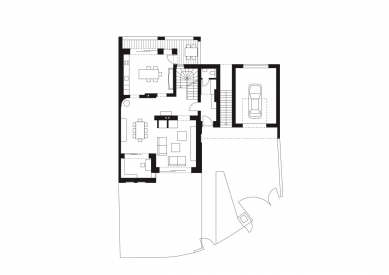Rodinný dům Žabovřesky 02 - Půdorys 1.np - foto: knesl + kynčl architekti