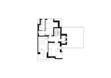 Rodinný dům Žabovřesky 02 - Půdorys 2.np - foto: knesl + kynčl architekti
