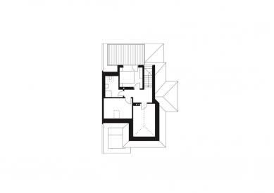 Rodinný dům Žabovřesky 02 - Půdorys 3.np - foto: knesl + kynčl architekti