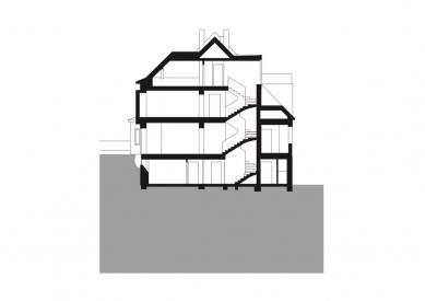 Rodinný dům Žabovřesky 02 - Řez - foto: knesl + kynčl architekti