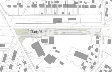 Dopravní terminál Nové Město na Moravě - Situace - foto: knesl + kynčl architekti