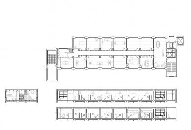 3. Etáž - transformace bývalé textilky - Plány - foto: henkai architekti