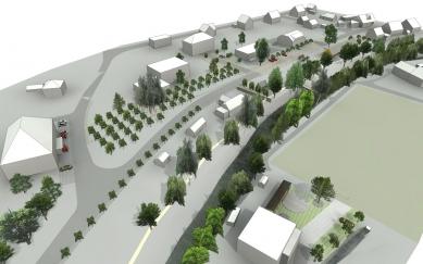 Revitalizace návsi v Prostřední Bečvě - Vizualizace - foto: henkai architekti