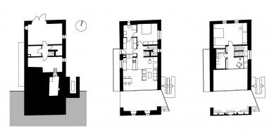 Rekonstrukce a přestavba mlýna na bydlení - Půdorysy