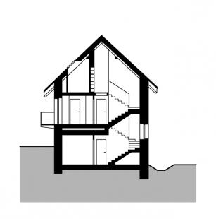 Rekonstrukce a přestavba mlýna na bydlení - Řez