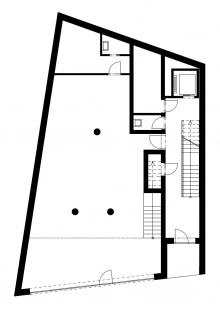 Multifunkční dům Vnoučkova - Půdorys 1NP