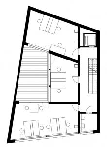 Multifunkční dům Vnoučkova - Půdorys 3NP