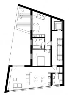 Multifunkční dům Vnoučkova - Půdorys 4NP