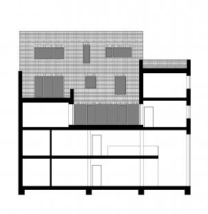 Multifunkční dům Vnoučkova - Řez
