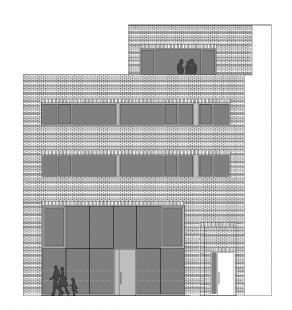Multifunkční dům Vnoučkova - Pohled z ulice
