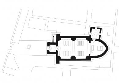 Rekonstrukce kostela Nanebevzetí Panny Marie v Mařaticích - Půdorys přízemí - foto: knesl + kynčl architekti