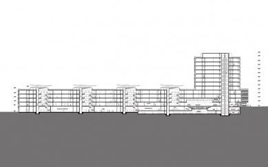 Spolkový úřad pro rozvoj městského prostředí a bydlení - Podélný řez - foto: sauerbruch hutton
