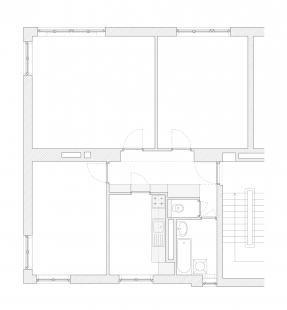 Minimalist Apartment in Prague - Půdorys před rekonstrukcí - foto: COLLARCH
