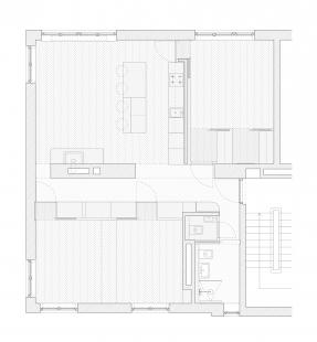 Minimalist Apartment in Prague - Půdorys po dokončení - foto: COLLARCH