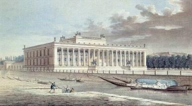 Altes Museum - Kresba Johanna Friedricha Thiele z roku 1830