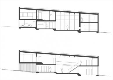 Vila RONNEVIK - řezy - foto: 4A architekti