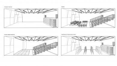 Konverze tělocvičny na multifunkční prostor se zázemím ve škole PORG - Kombinace - foto: ARCHPORT