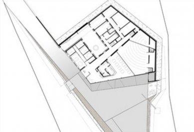 Centrum duchovní péče voestalpine - Půdorys přízemí - foto: x architekten