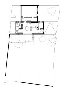Rodinný dům Obřany 01 - Půdorys přízemí - foto: knesl + kynčl architekti