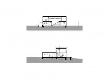 Rodinný dům Obřany 01 - Řezy - foto: knesl + kynčl architekti