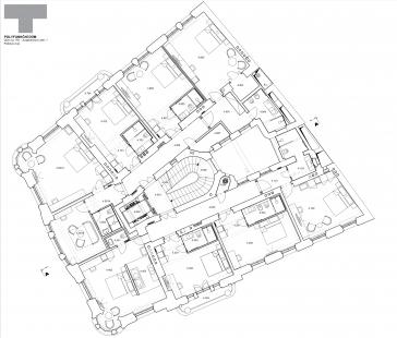 Rekonstrukce domu na Jungmannově náměstí - Půdorys 4.np - foto: TaK Architects