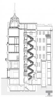 Rekonstrukce domu na Jungmannově náměstí - Řez - foto: TaK Architects
