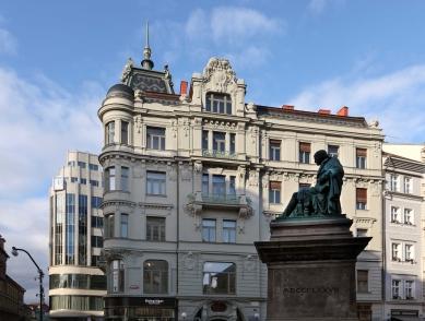 Rekonstrukce domu na Jungmannově náměstí - foto: Martin Zeman / www.DAtelier.cz