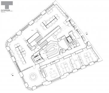 Rekonstrukce domu na Jungmannově náměstí - Půdorys 2.np - foto: TaK Architects