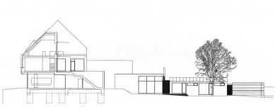 Dům na náměstí - řez - foto: atx architekti
