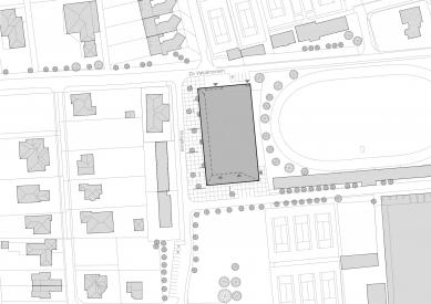Národní sportovní centrum v Prostějově - Situace - foto: atelier-r
