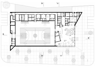 Národní sportovní centrum v Prostějově - Půdorys 1.p - foto: atelier-r
