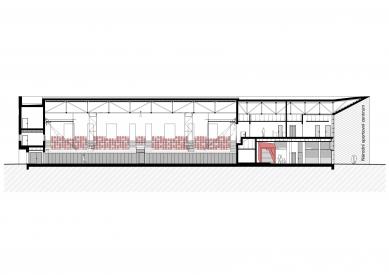 Národní sportovní centrum v Prostějově - Řez a-a' - foto: atelier-r