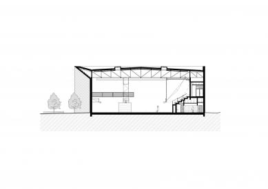 Národní sportovní centrum v Prostějově - Řez b-b' - foto: atelier-r