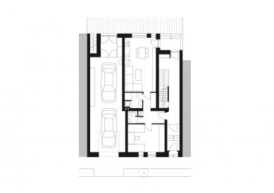 Rodinný dům Královo Pole 03 - Půdorys 1.np - foto: knesl + kynčl architekti