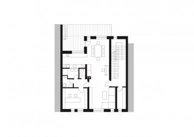 Rodinný dům Královo Pole 03 - Půdorys 2.np - foto: knesl + kynčl architekti