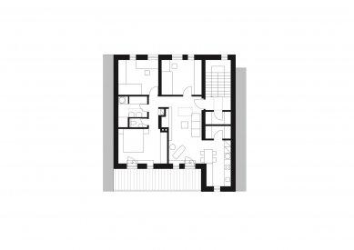 Rodinný dům Královo Pole 03 - Půdorys 3.np - foto: knesl + kynčl architekti